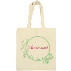Bridesmaid Floral Tote