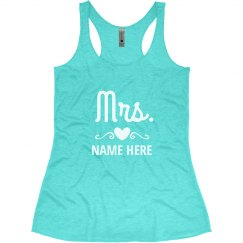 Custom Name Newlywed Tank