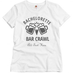 Custom Bachelorette Bar Crawl