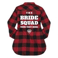 Buffalo Plaid Bride Squad Custom