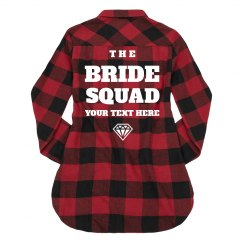 Buffalo Plaid Bride Squad Custom