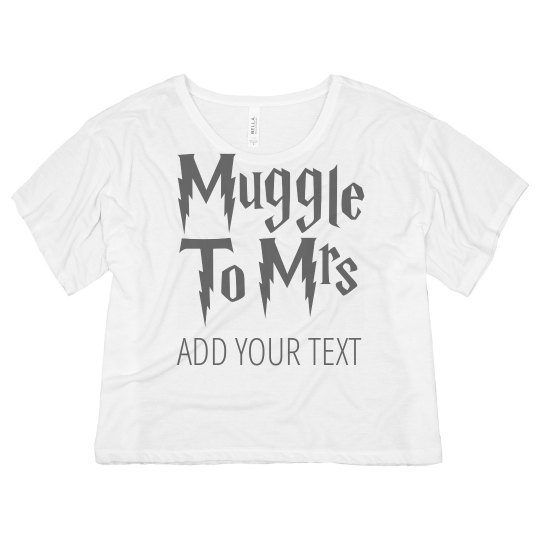 2b6a58aa Team Mrs. Muggle Ladies Flowy Boxy Cropped T-Shirt