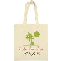 Hola Beaches Wedding Welcome Tote