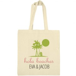 Hola Beaches Wedding Welcome Tote