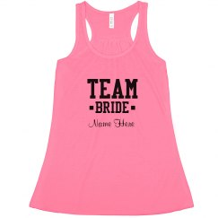Cute Custom Team Bride Neon