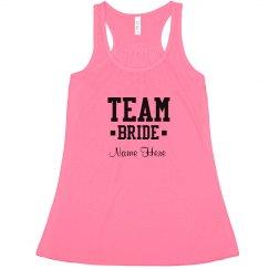 Cute Custom Team Bride Neon
