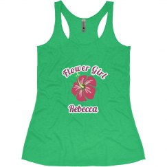 Pretty tank top for the flower girl