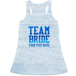 Blue Metallic Team Bride