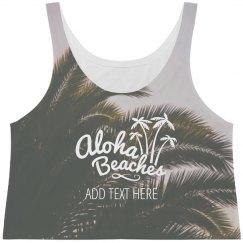 Aloha Beaches Palm Tree Print