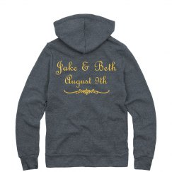 Black & Gold Bridal Hoody