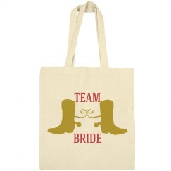 Team Bride Country Wedding Tote