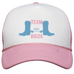 Team Bride Country Wedding Trucker Hat