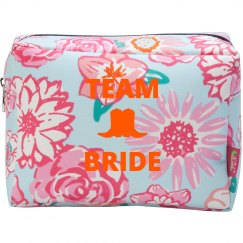 Team Bride Country Wedding Makeup Bag