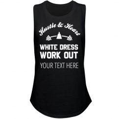 Hustle And Heart White Dress Workout