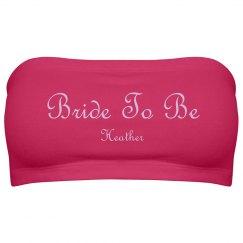 Bride To Be Purple Script
