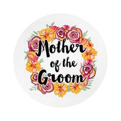 Floral Mother Of The Groom Badge