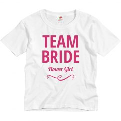 Team Bride Flower Girl Cute Bridal Party Outfit