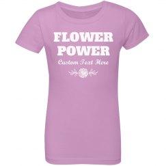 Flower Girl With Flower Power Custom Name Gift