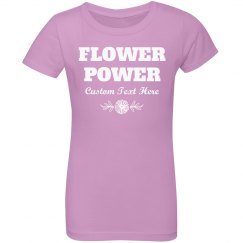 Flower Girl With Flower Power Custom Name Gift