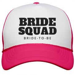 Bride Squad To Be Neon Hat