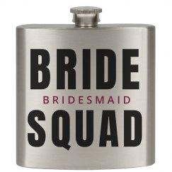 Bride Squad Bachelorette Flasks
