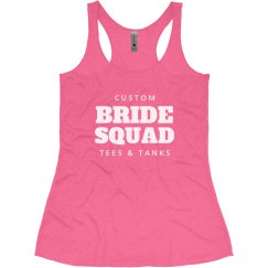 Custom Text Bride Squad Tanks
