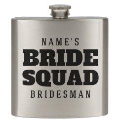 Custom Gift For Bridesman Flask