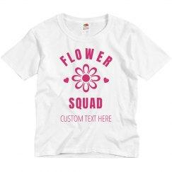 Bridal Flower Squad Custom Shirt For Flower Girl