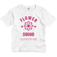 Bridal Flower Squad Custom Shirt For Flower Girl