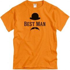 Best Man Hat and Mustache Shirt