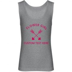 Heart & Arrow Flower Girl Kids Tank Top