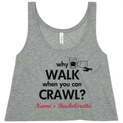 Custom Bar Crawl Crop Top