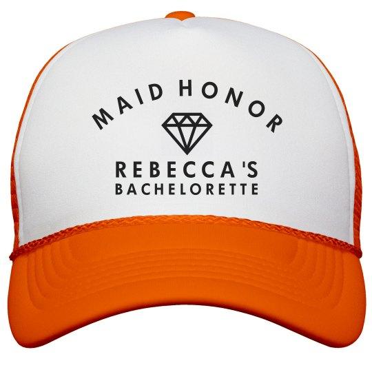 Maid Of Honor Neon Hat Neon Snapback Trucker Hat f182b4423e0
