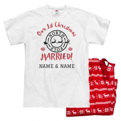 First Christmas Married Custom PJs