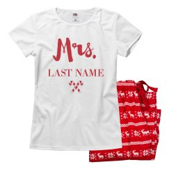 Custom Mr & Mrs Christmas Pajamas