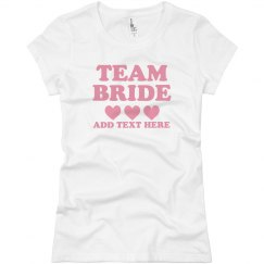 Team Bride Heart Tee