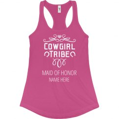 Maid Of Honor Cute Cowgirl Tribe