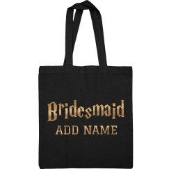 Metallic Gold Bridesmaid Wizard