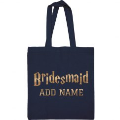 Metallic Gold Bridesmaid Wizard