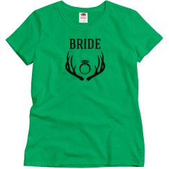 Bride Tank Top with Deer Art