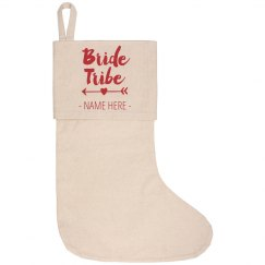 Custom Bride Tribe Holiday Stocking