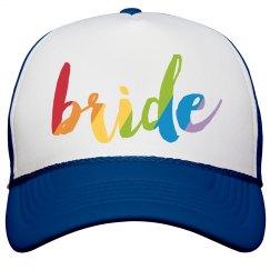 Tye-Dye Bride Hat