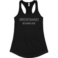 Simple Bold Bridesmaid Design