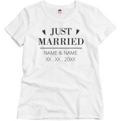 Cute And Clean Just Married