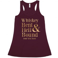 Custom Metallic Whiskey Bent Bride
