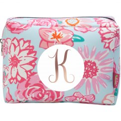 Custom Initial Cosmetic Bag