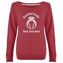 Custom Baseball Bride Sweatshirt