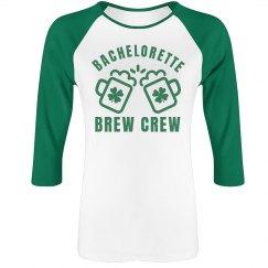 Metallic Bachelorette Crew Raglan