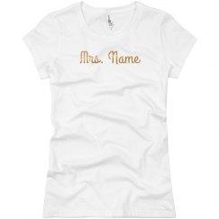 Shiny Gold Custom Mrs Name