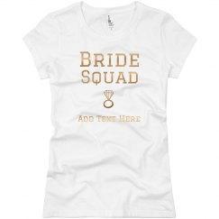 Gold Shiny Bride Squad